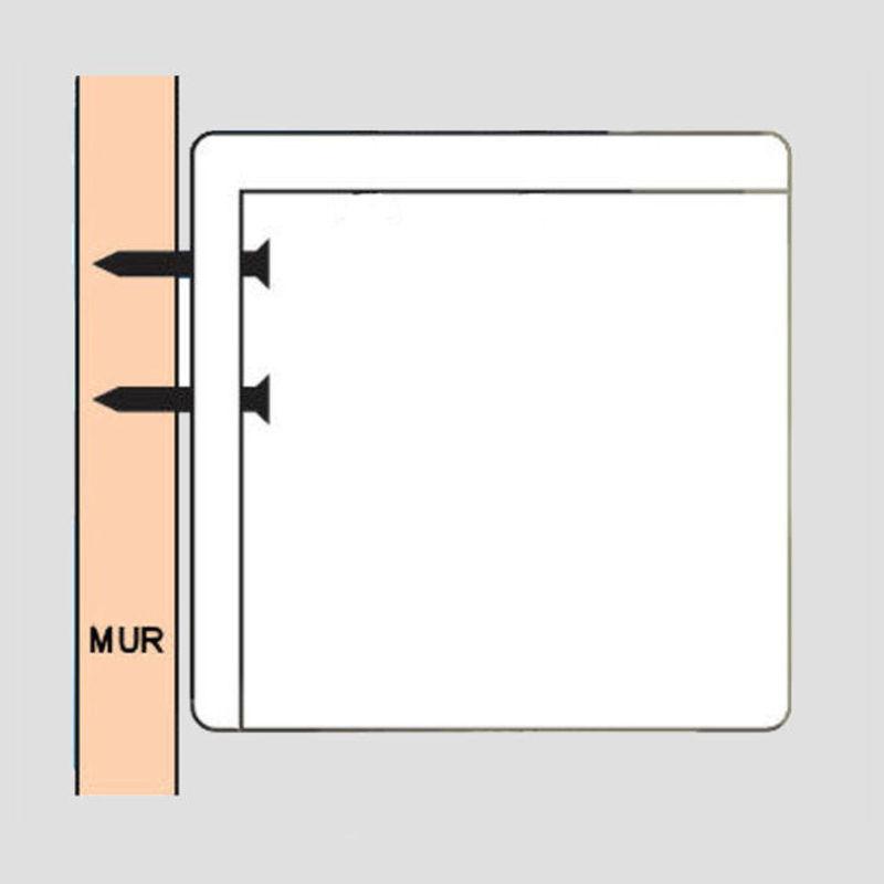 ecran de projection manuel 2 00 x 1 13m format 16 9 kimex. Black Bedroom Furniture Sets. Home Design Ideas