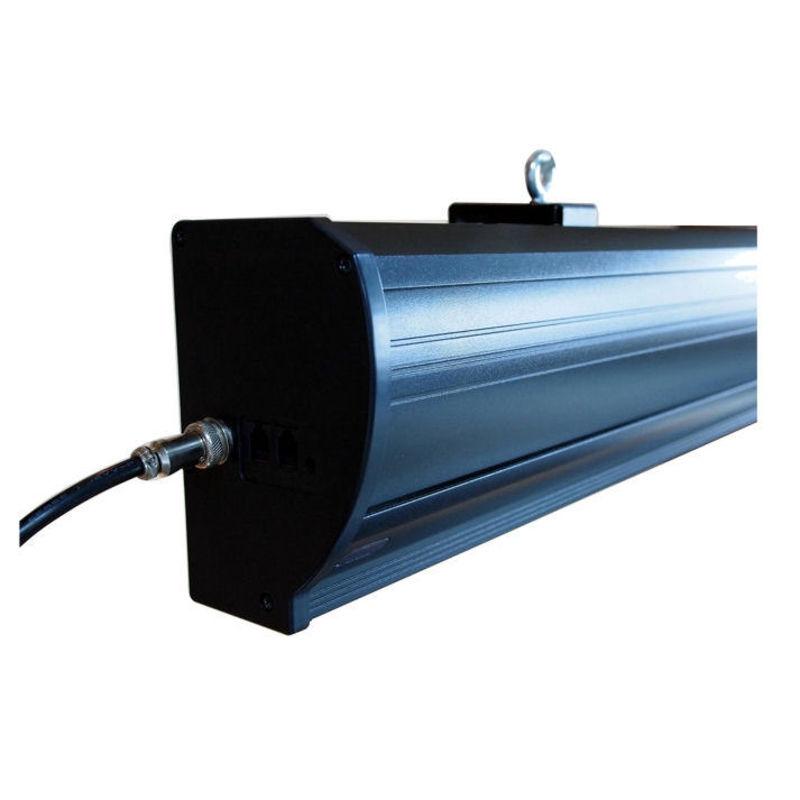ecran de projection lectrique tensionn 2 40 x 1 35m format 16 9 carter noir kimex. Black Bedroom Furniture Sets. Home Design Ideas