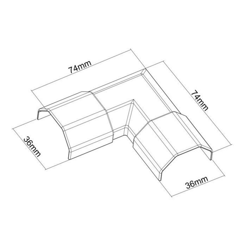 angle cache c bles largeur 33mm gris kimex. Black Bedroom Furniture Sets. Home Design Ideas