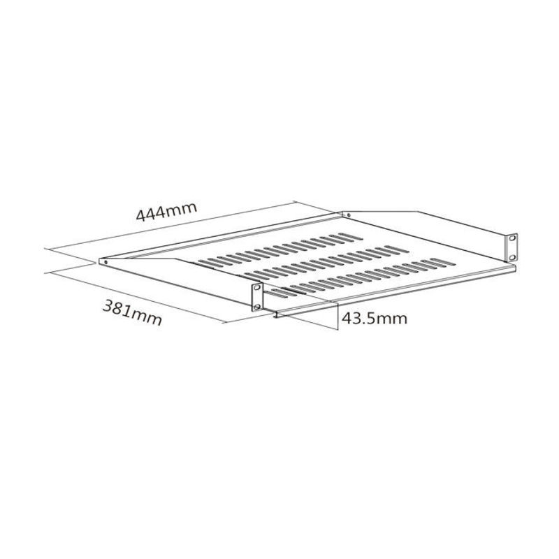 Etag re fixe pour rack et baie 19 hauteur 1u prof 38cm kimex - Etagere grande hauteur ...
