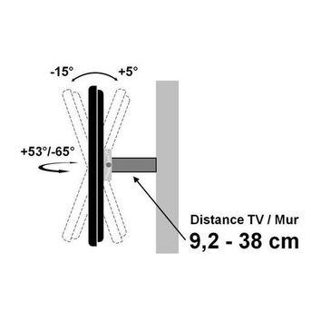 support mural articul pour cran tv 37 70 fonction antivol kimex. Black Bedroom Furniture Sets. Home Design Ideas