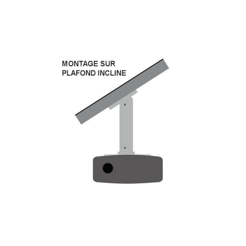support plafond vid oprojecteur hauteur 20cm blanc kimex. Black Bedroom Furniture Sets. Home Design Ideas