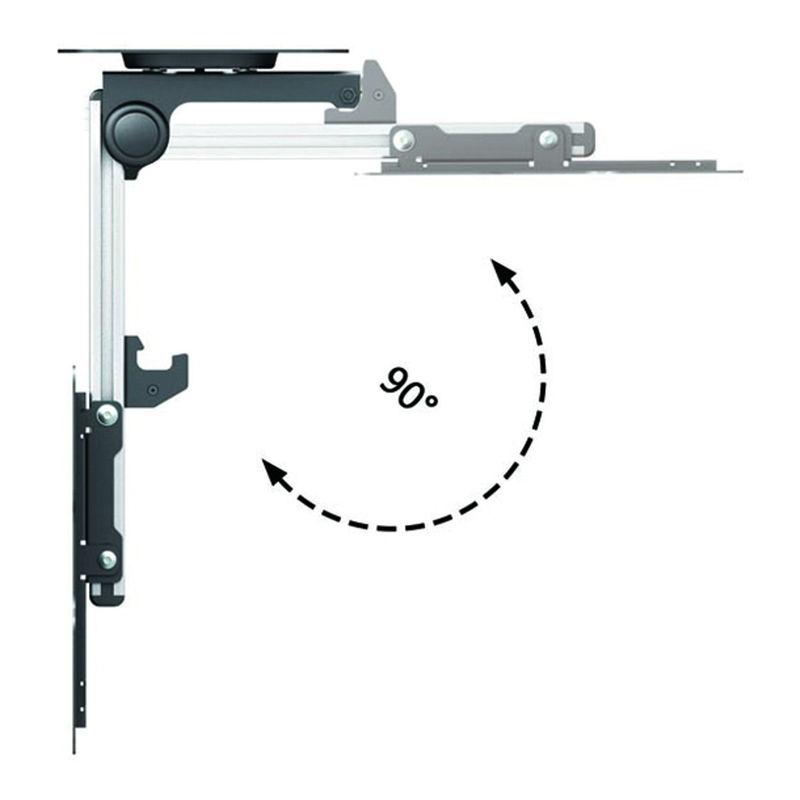 Support plafond escamotable pour écran TV 13´´23´´ Haut 1831cm  KIMEX -> Support Tv Escamotable