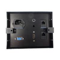 Boîtier de table encastrable 2xRJ45, VGA, HDMI, AUDIO, Prise 220V, Noir