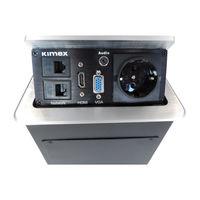 Boîtier de table encastrable 2xRJ45, VGA, HDMI, AUDIO, Prise 220V, Gris