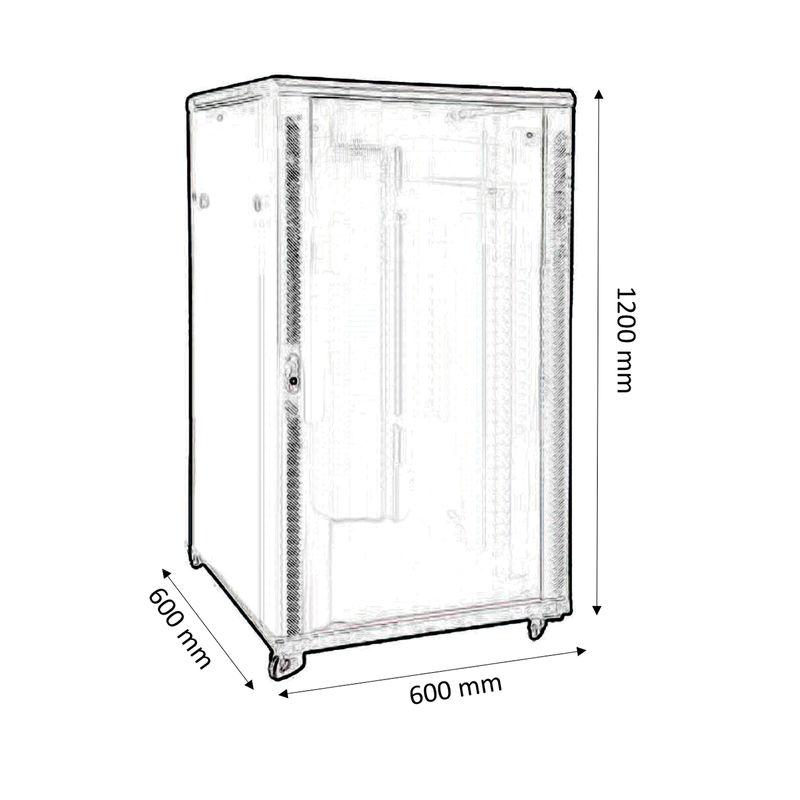 rack baie de brassage 19 largeur 600mm profondeur 600mm capacit 24u kimex. Black Bedroom Furniture Sets. Home Design Ideas