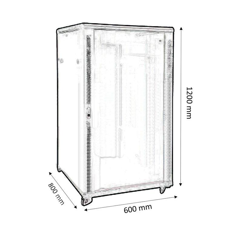 rack baie de brassage 19 largeur 600mm profondeur 800mm capacit 24u kimex. Black Bedroom Furniture Sets. Home Design Ideas