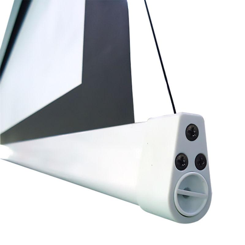 ecran de projection lectrique tensionn 2 40 x 1 35m format 16 9 carter blanc kimex. Black Bedroom Furniture Sets. Home Design Ideas