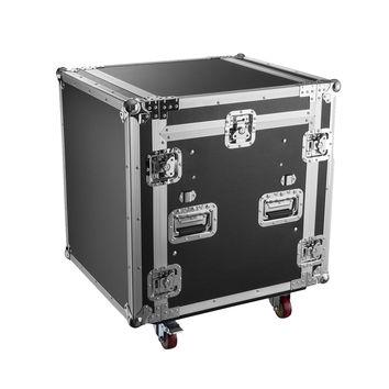 Flight case régie rack 19´´ pour console, plan incliné, Capacité 12U