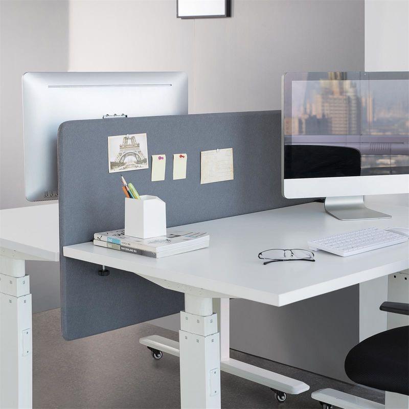 panneau de s paration bureau 120x60cm bleu kimex. Black Bedroom Furniture Sets. Home Design Ideas