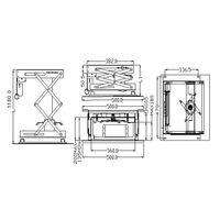 Support motorisé pour vidéoprojecteur, Hauteur 100cm max
