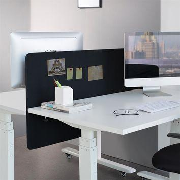 Panneau de séparation bureau 150 x 60 cm, Noir