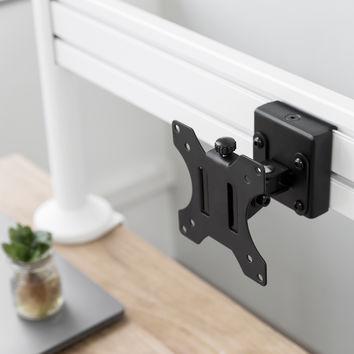 Kit rail de fixation Slatwall + 2 pieds de table + Support PC
