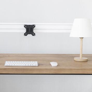 Kit barre de fixation de type Slatwall, 120cm + 2 pieds de table + Support moniteur pivotant