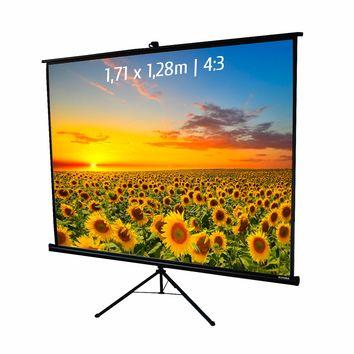 Ecran de projection trépied 1,71 x 1,28m, format 4:3