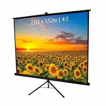 Ecran de projection trépied 2,03 x 1,52m, format 4:3