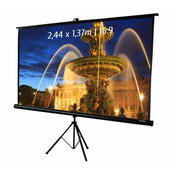Ecran de projection trépied 2,44 x 1,37m, format 16:9