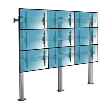 """Support sur pieds mur d´images pour 9 écrans TV 50""""-55"""", à visser"""
