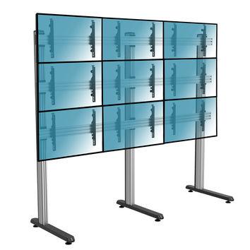 """Support sur pieds mur d´images pour 9 écrans TV 50""""-55"""", à poser"""