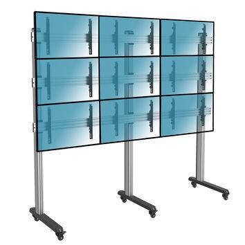 """Support sur pieds mur d´images pour 9 écrans TV 50""""-55"""", à roulettes"""
